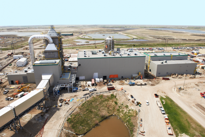 The carbon-capture plant. SaskPower CCS