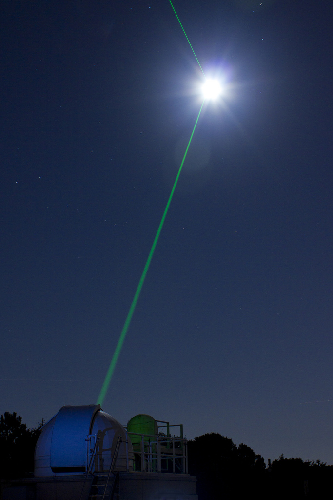 Firing lasers at clouds to change the Earth's albedo