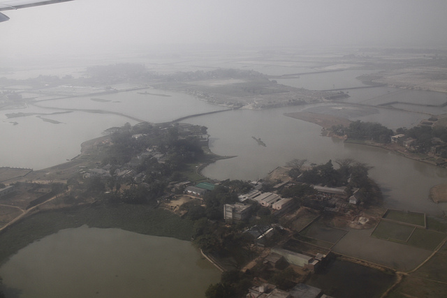 Flooded villages in Bangladesh. UKCDS via Flickr